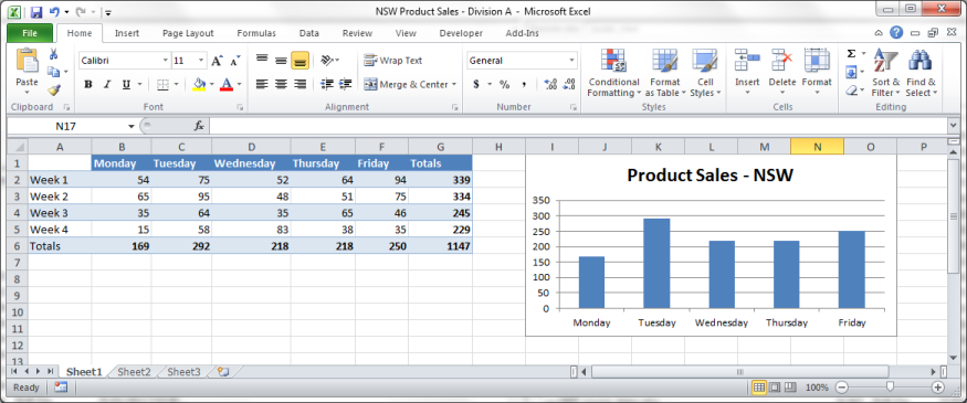 An example Excel 2003 file.