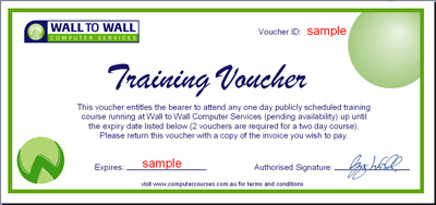 Computer Training Vouchers Computer Course Vouchers Save Money – Example of a Voucher